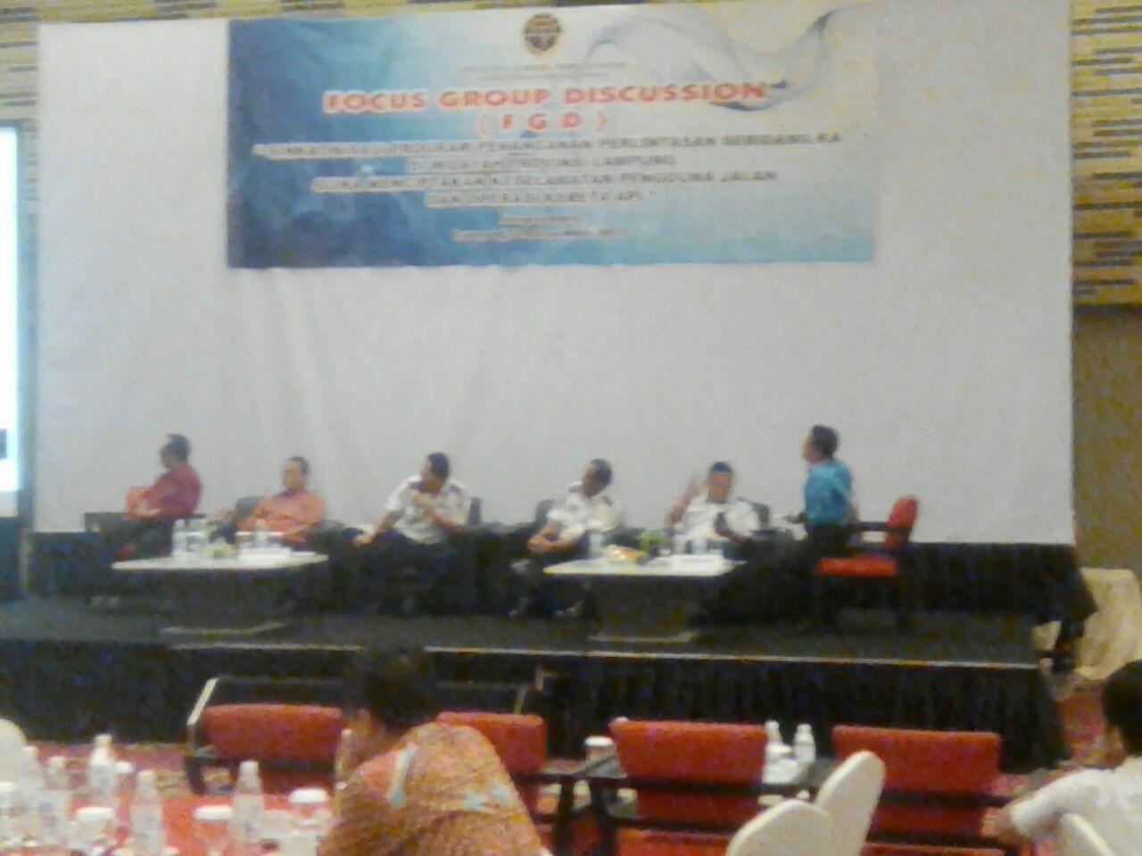 Dishub Lampung Gelar FGD Penanganan Perlintasan Sebidang KA