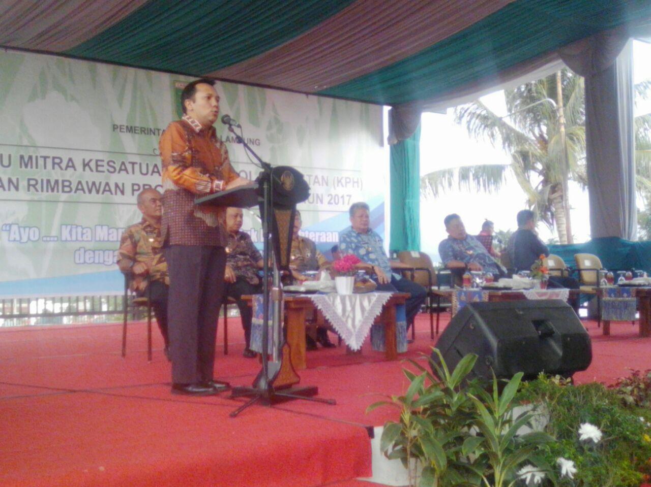 Pemrov Lampung Komit Reboisasi Hutan Rusak
