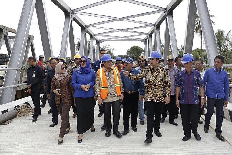 Ridho Tinjau Pembangunan Jembatan Way Sekampung 2, Pringsewu